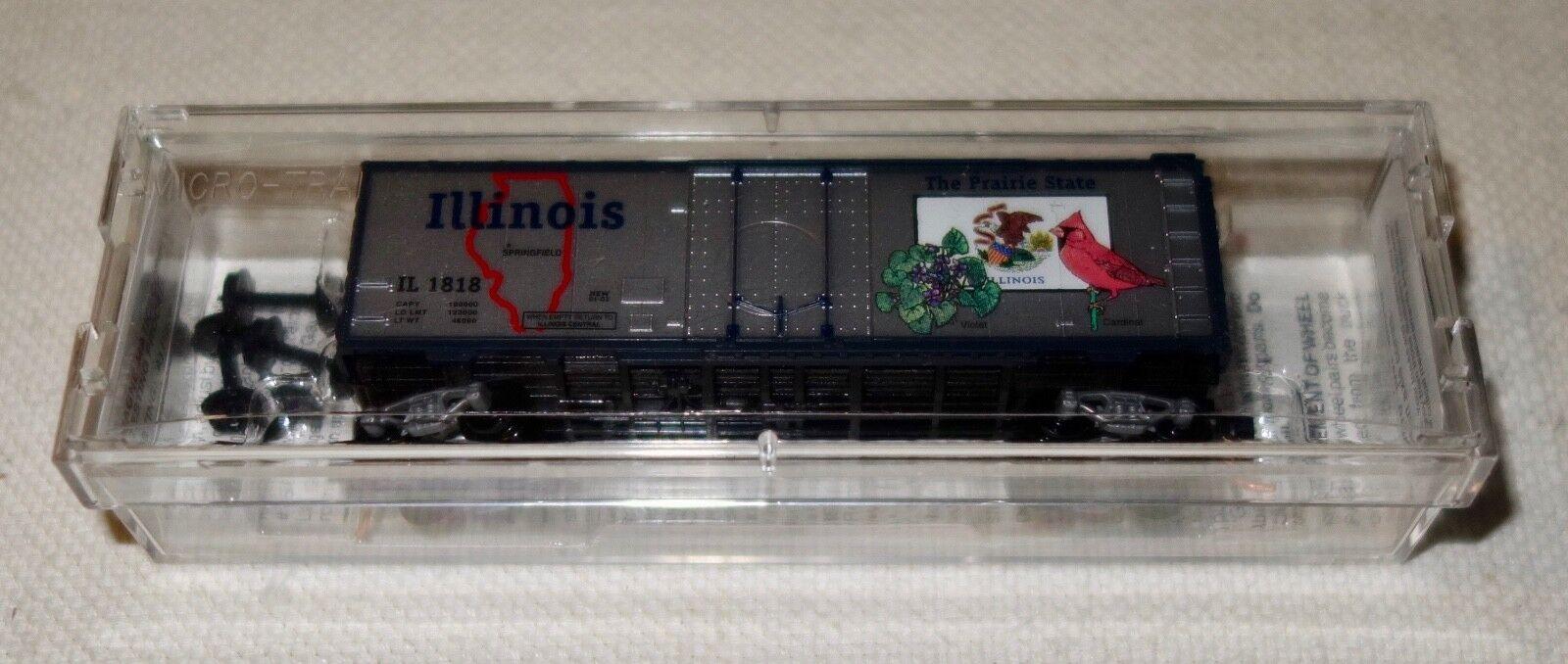MICRO TRAINS N US-Güterwagen -Illinois State Car 40' 40' 40'   21320 ,OVP,NEU, Rarität 157b9d