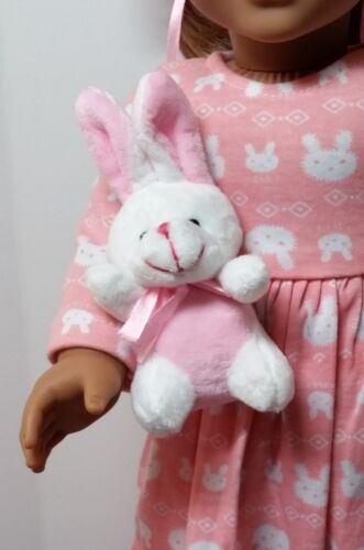 """KNC too! Adorable Plush Bunny Sized For your American Girl or other 18/"""" Dolls"""