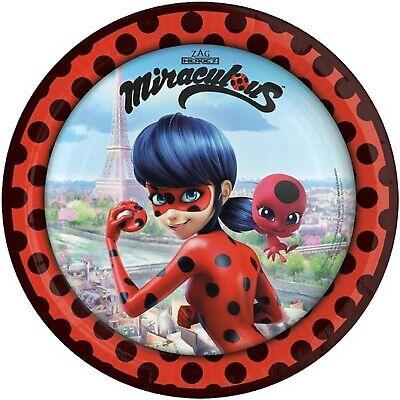 Le Ragazze Miracoloso Ladybug Supereroe Festa Di Compleanno Stoviglie Decorazioni Piatti-mostra Il Titolo Originale