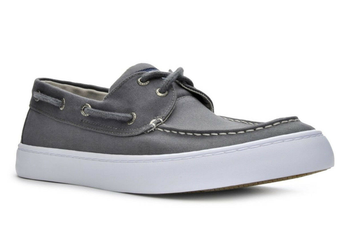 Sperry Men's Cutter 2 Eye Nickel   Grey Boat shoes - Size  8.5 9 NWB STS15834