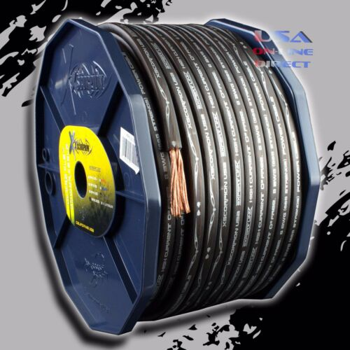8 Gauge 200 ft Roll BLACK Power Ground OFC Wire Copper FLAT Marine Cable AWG USA