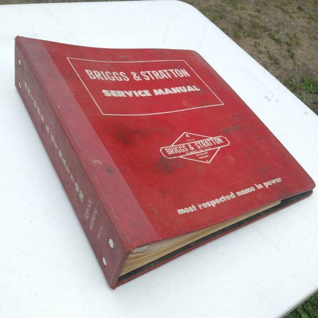 Briggs & Stratton Service Engine Sales Manual Large Binder