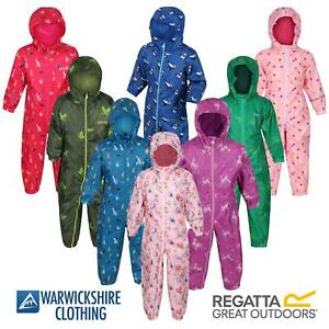 Regatta Pobble Rain suit Waterproof All In One Childrens Kids Boys Girls