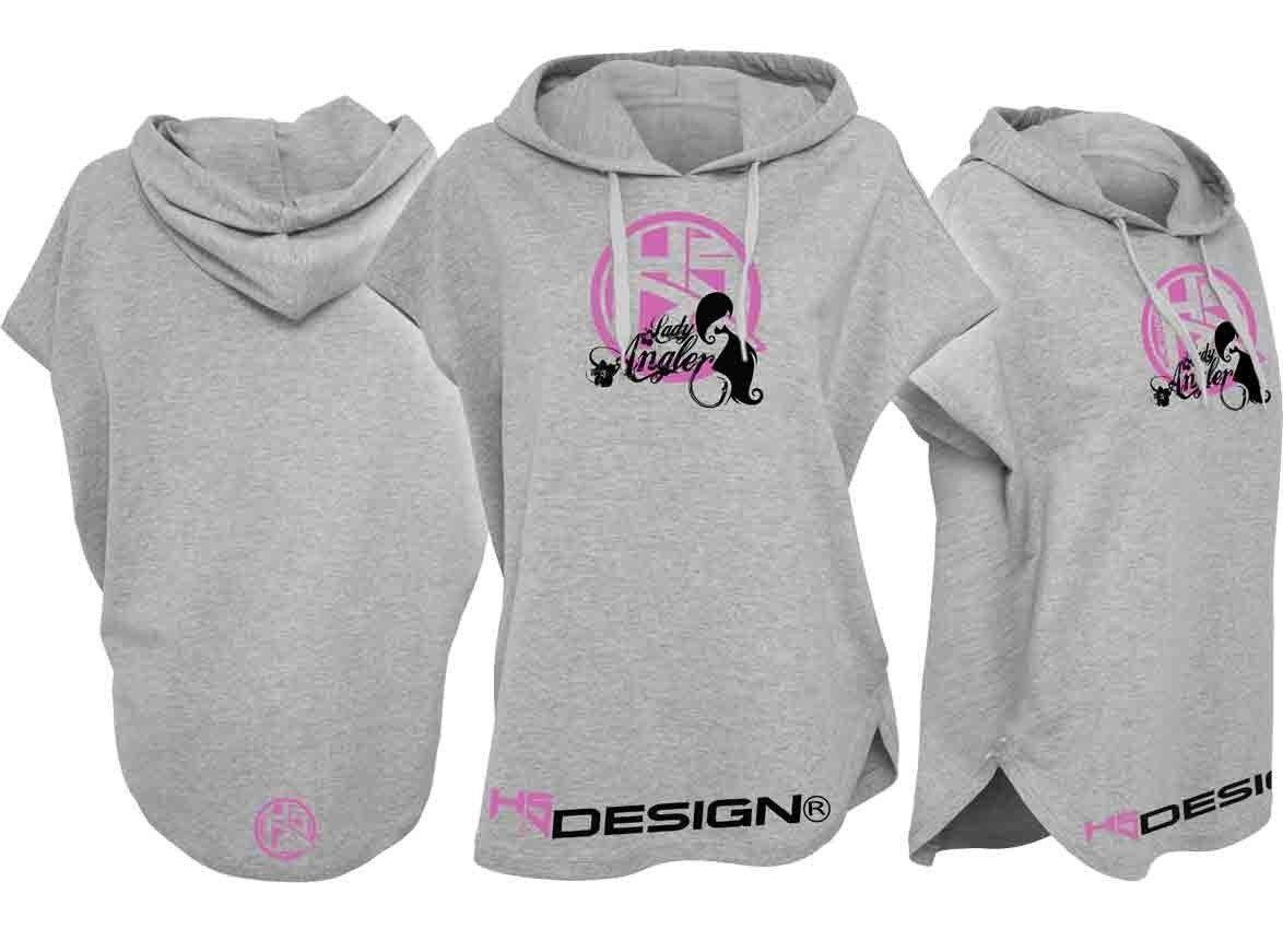 Hotspot Design Sleeveless Hoody-Lady Angler,Ärmelloser Kapuzensweater,grey pink
