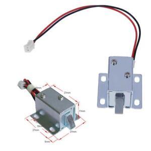 Image is loading 6V-12V-DC-Electric-Solenoid-Lock-Tongue-Upward-  sc 1 st  eBay & 6V/12V DC Electric Solenoid Lock Tongue Upward Assembly for Door ...