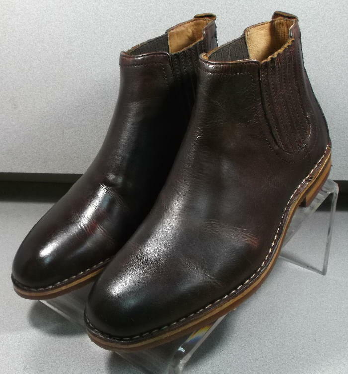 300336 TESBT50 Men's shoes Size 11.5 M Brown Leather Pull On Boots  H.S. Trask