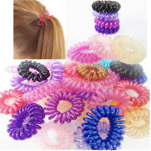 10 x New Spiral Plastic Hair Bands Baby Girls Ponytail Elastic ... bf1d0dca852