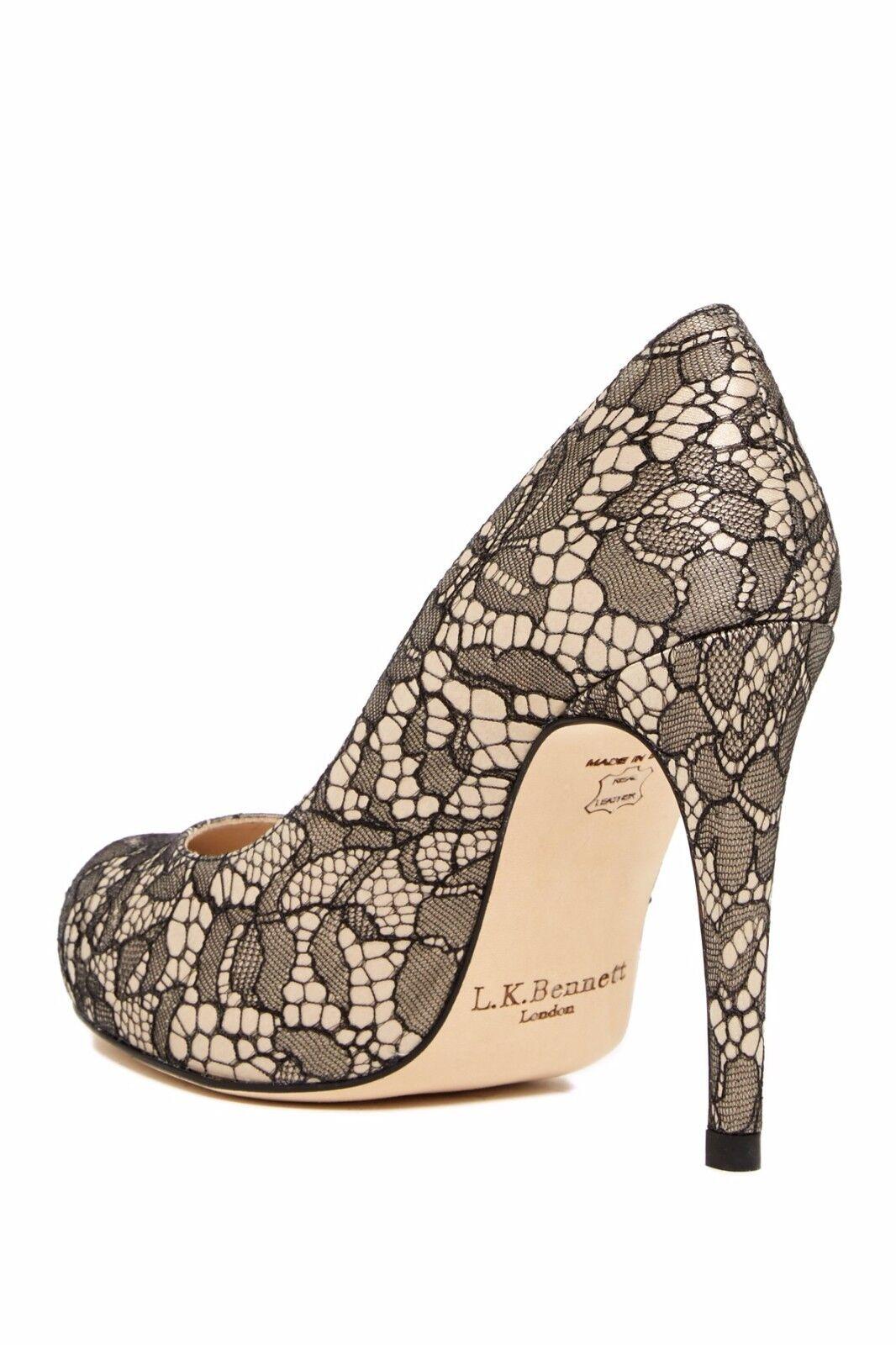 chaussures l.k. bennett dentelle pompe harley dentelle bennett noire - talon 36,5 caché cbfd95