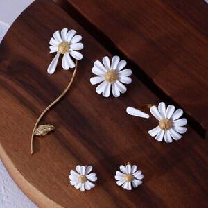 Fashion-Sunflower-Stud-Ear-Drop-Dangle-Flower-Long-Earrings-Women-Jewelry-Gift