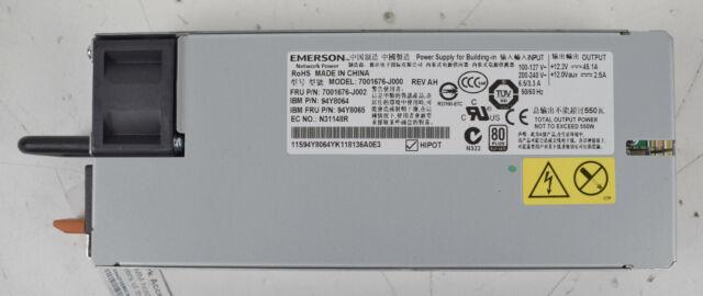 Emerson 7001676-J000 550W Hot Swap 1U Server Power Supply