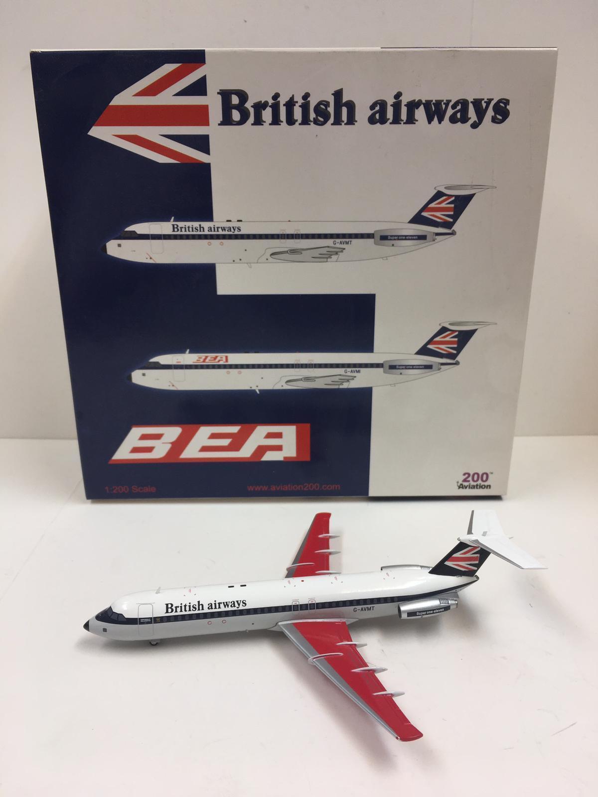 Aviation 200 British Airways BAC 111-510ED One-Eleven 1 200 G-AVMT