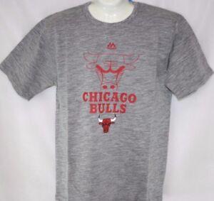 22815b0368f9 NEW Youth Kids Boys MAJESTIC NBA Chicago Bulls Grey Basketball Tee T ...