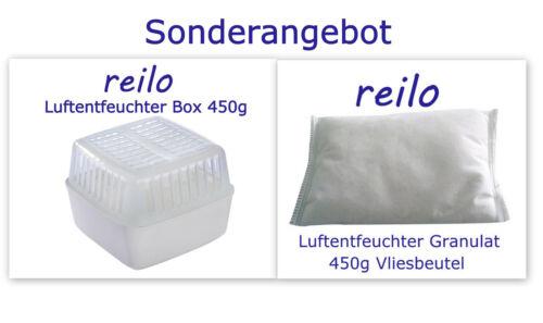 1L Raumentfeuchter Box mit 450g Luftentfeuchter Granulat im Vliesbeutel