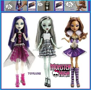 Monster-High-GHOUL-039-S-ALIVE-3-Doll-SET-Spectra-Frankie-amp-Clawdeen-Weak-Batteries