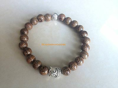 Natural Wood Buddha Bracelet