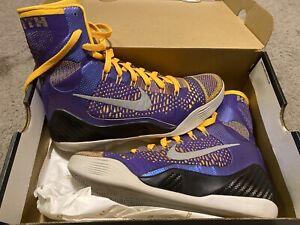 Nike Kobe 9 Elite Lakers Showtime Size