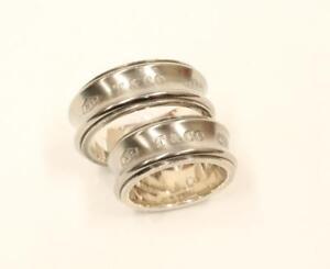 cd1264f57 Tiffany & Co. 1837 Concave Titanium Wedding Band Set 925 Ti Size 10 ...