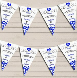 Hearts-Party-Decoration-Sapphire-45th-Wedding-Anniversary-Bunting-Party-Banner