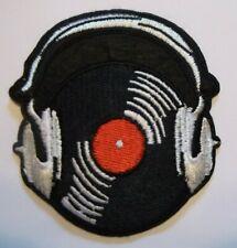 20302 Skull Headphones DJ Music Skeleton Horror Punk Embroidered Iron On Patch