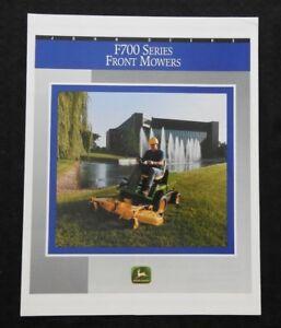 1992-1993-JOHN-DEERE-F710-F725-FRONT-MOWER-SALES-BROCHURE-MINTY