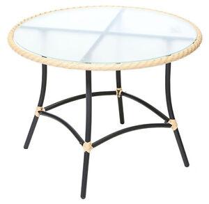 Merxx Gartentisch Tisch Rund Ravenna O 100 Cm Natur Anthrazit