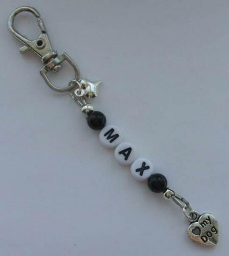 Dog//Cat memorial personalised with the name of your choice bag charm