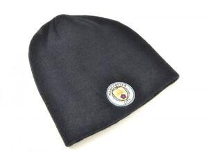 1922c22a41a Manchester City FC Navy Blue Beanie Hat Football NEW Club Badge ...