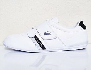 LACOSTE-Misano-Strap-120-1-Men-039-s-Casual-Leather-Loafer-Shoes-Sneakers-White-Blk