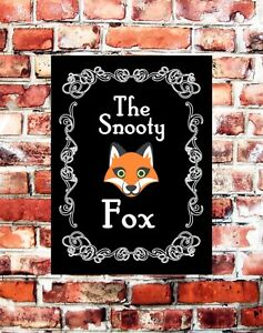 THE-SNOOTY-FOX-METAL-PUB-BAR-SIGN-NOVELTY-GIFT-PUB-SHEDS