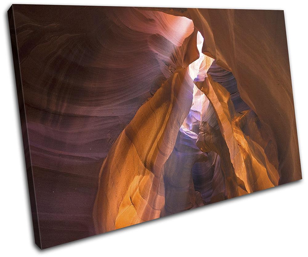 Slot Canyon Utah Landscapes SINGLE TELA parete arte foto foto foto stampa a6005c