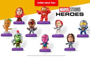 MARVEL-STUDIOS-HEROES-Happy-Meal-Toys-1-9-McDonalds-OCT-2020-Complete-Set-GG