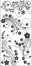 FLOWER FLOURISH Clear Unmounted Rubber Stamp Set INKADINKADO 60-30380 NEW