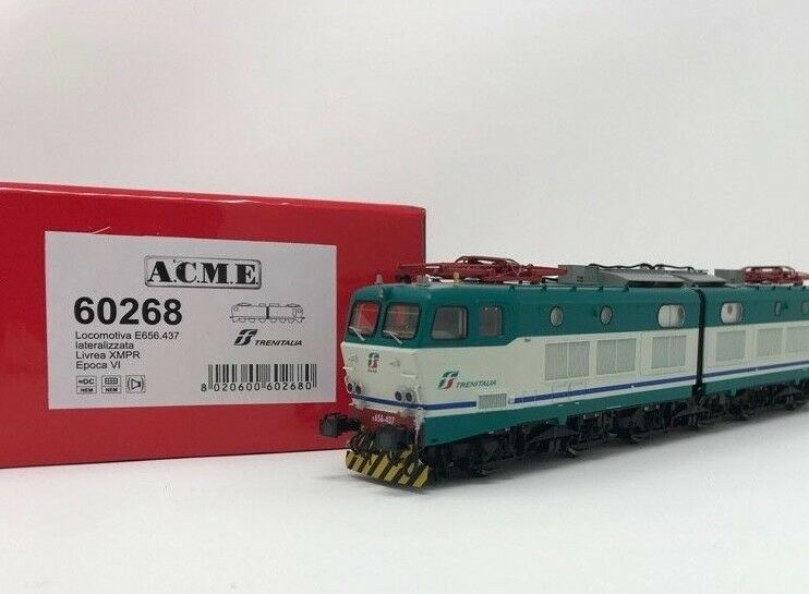 ACME 60268 E656-437 , XMPR, logo Trenitalia green red,   resp. rettangolari