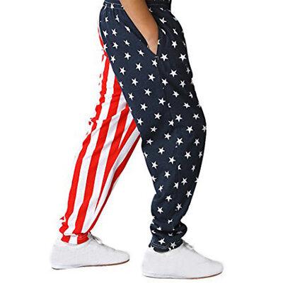 Kids Boys Pants AmericanFlag Pattern Harlan Pants Children Pants Casual Trousers