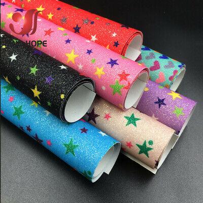 Christmas Material Fabric Glitter Bows Leatherette Canvas Vinyl Glitter 20x30cm