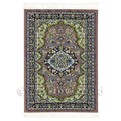 16nmr07 Casa De Muñecas medio alfombra//alfombra Rectangular siglo 16th