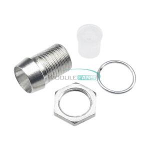 50PCS 5MM Chrome Metal Silver Bezel LED Holder Panel Display Mount Base Rubber S