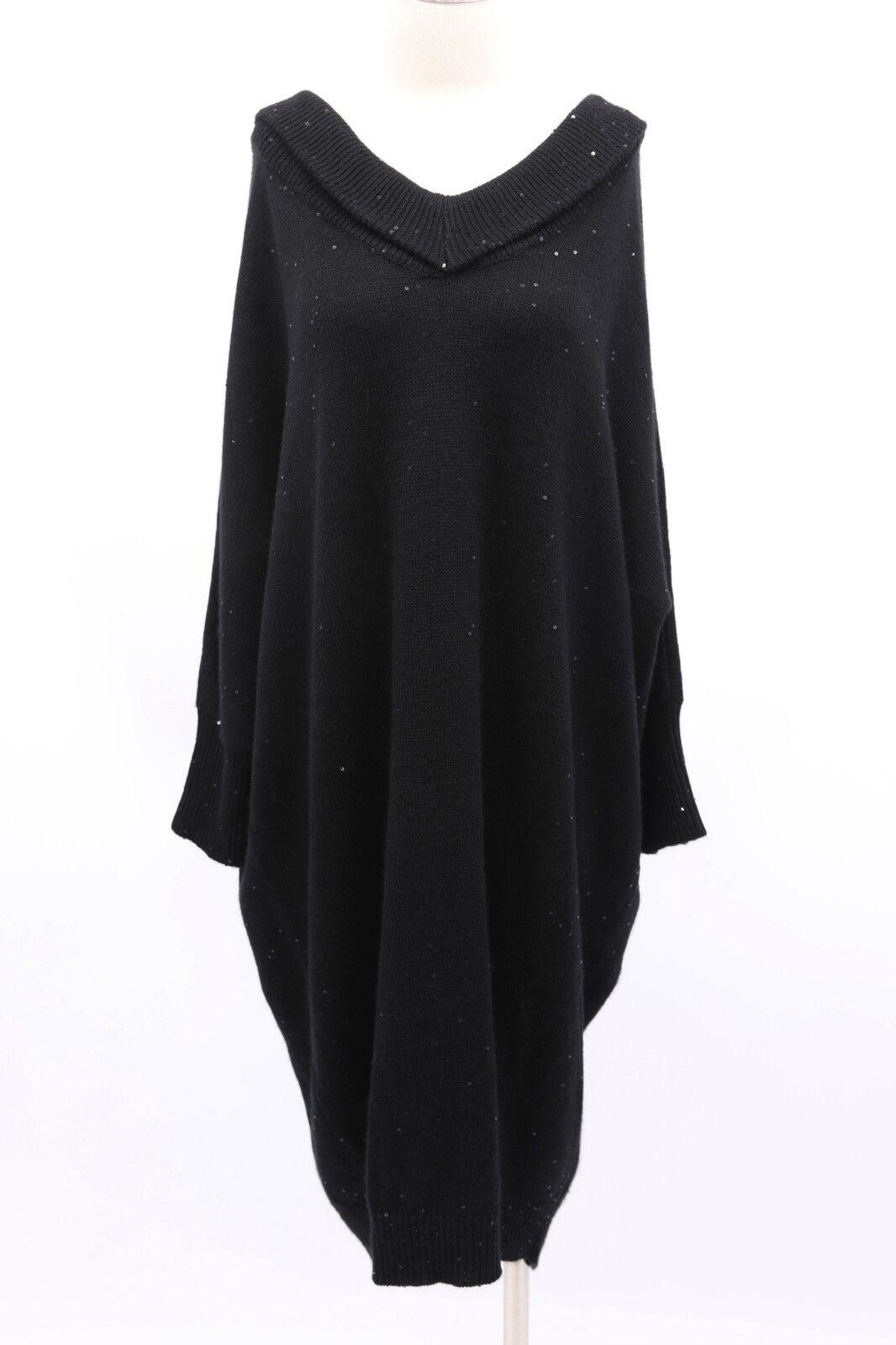 5fa1fa1649 NWT Brunello Cucinelli Cashmere-Silk Sparkly Sequined Knit Dress Sz M A181