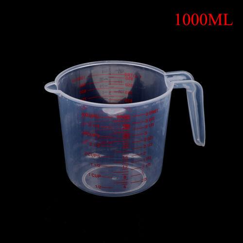 Messbecher aus transparentem Messbecher Kunststoff 250//500//1000ml Flüssigw la