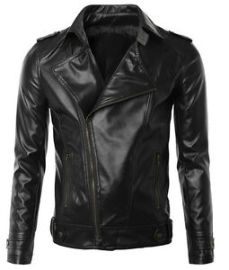 Men Homme Uomo Blouson Giacca Cuir Veste Leather Giubbotto Pelle In N7a Jacket wpcI4q