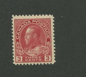 Canada-1924-King-George-V-Admiral-Issue-Fine-Very-Fine-3c-Stamp-109-CV-60