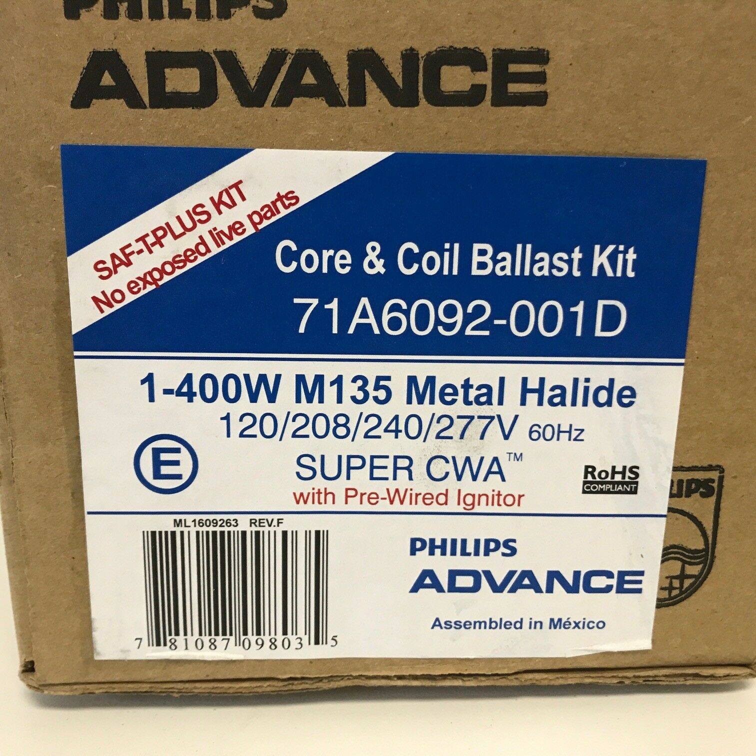 71a6092 001d Hid Ballast Kit Metal Halide 400 W Ebay 480 Volt Wiring Diagram Norton Secured Powered By Verisign