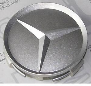 Genuine mercedes benz wheel center hub caps 75mm set of 4 for Mercedes benz center caps
