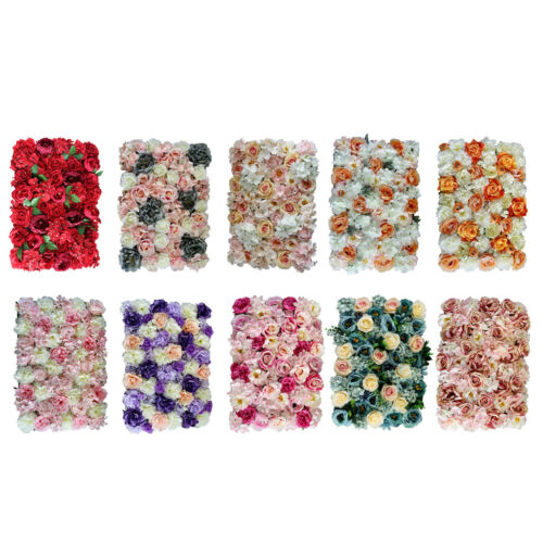Artificial Flower Wall Panels Wedding Anniversary Venue Decor Photo Backdrops