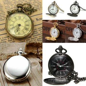 Retro-Vintage-Antique-Steampunk-Quartz-Chain-Necklace-Pendant-Pocket-Watch