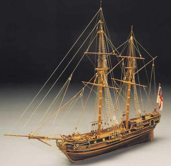 Mantua Racehorse Bomb Ketch Wooden Ship Kit (793) Scale 1 47