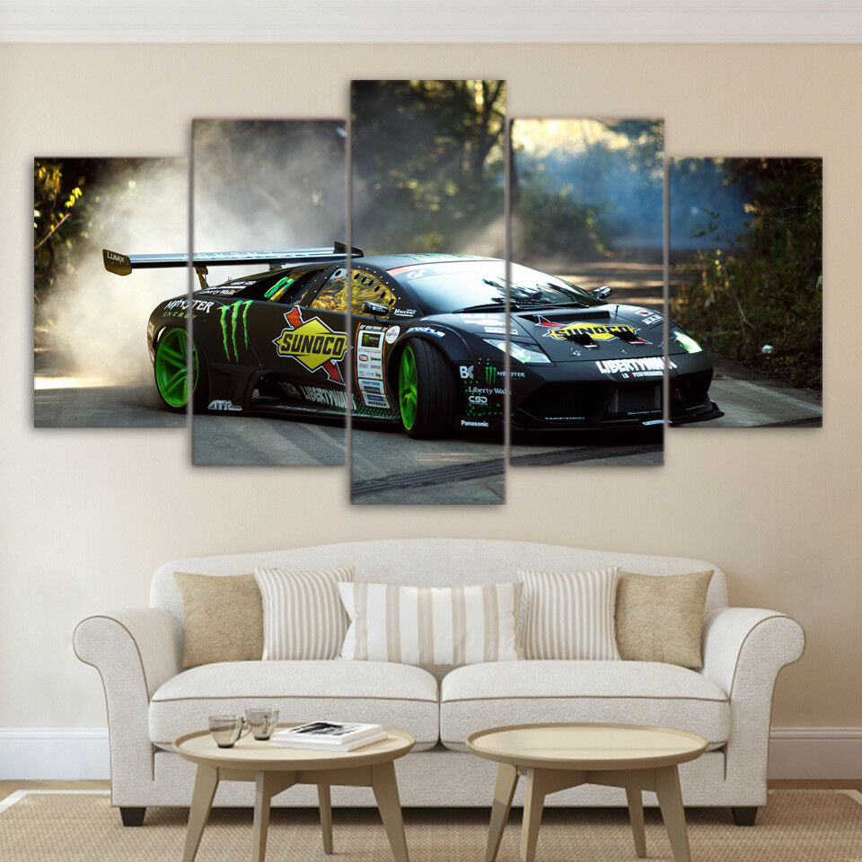 Speedhunters Sports Car 5 Piece Canvas Print Wall Art