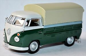 VW-Volkswagen-T1-Camion-a-benne-Pick-Up-Bache-De-Camion-A-Plat-1951-67-vert-amp