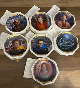 Star Trek DEEP SPACE The Hamilton Collection Plate Lot of 7 1994