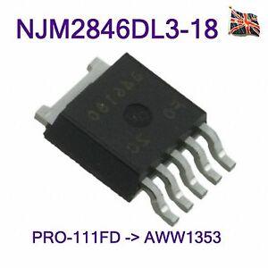 Pioneer-NJM2846DL3-18-IC-Regulator-1-8-V-0-8-A-AWW1353-AWW1352-PRO-111FD-TO-252-5